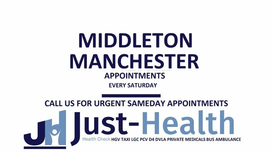MANCHESTER MIDDLETON JUST HEALTH CLINIC - Mantra Learning, Greengate, Middleton, M24 1RU Manchester,