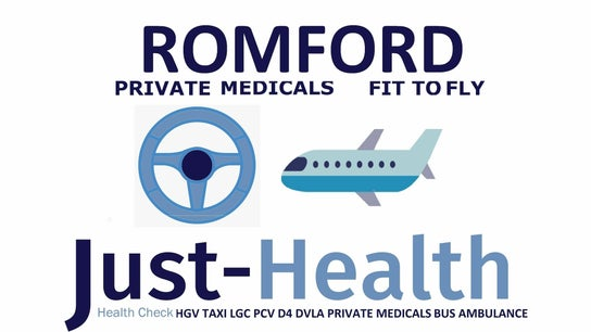 ROMFORD ESSEX Just Health Fit to Fly & Driver Clinic RM6 4XX 0