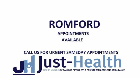 ROMFORD ESSEX Just Health Fit to Fly & Driver Clinic RM6 4XX 1