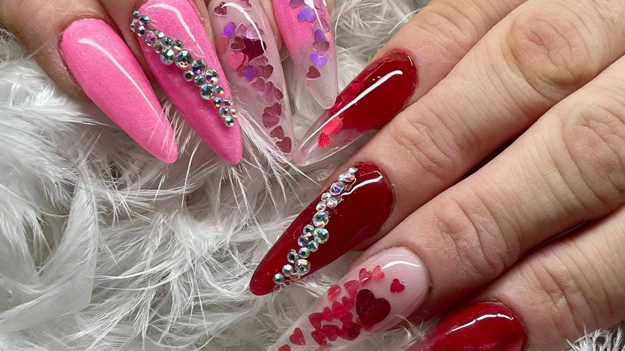 Zoe's glitzy nails