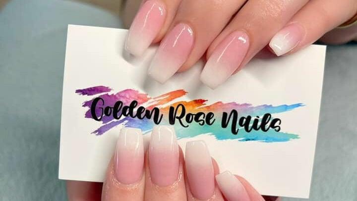 Golden Rose Nails
