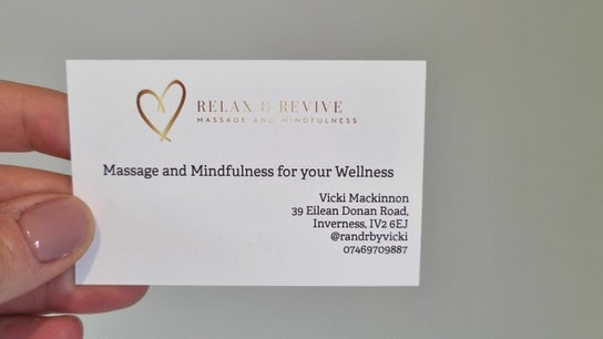 Relax and Revive - Massage and Mindfulness - R&R by Vicki