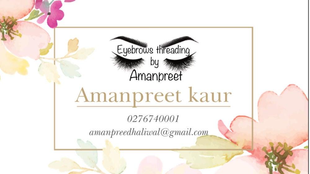 Eyebrows threading by Amanpreet